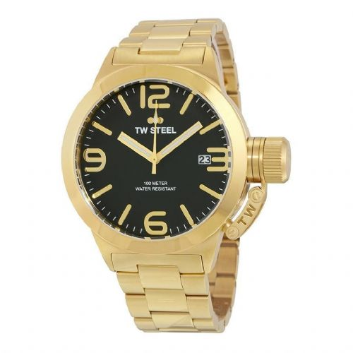 TW STEEL Canteen 45mm Gold Gents Watch CB91